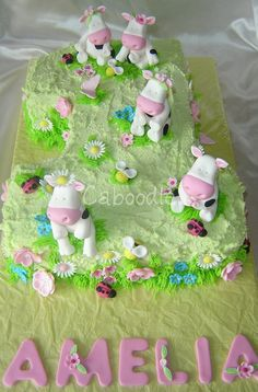 Cow cake. Made with cup cakes and a 29+ lol