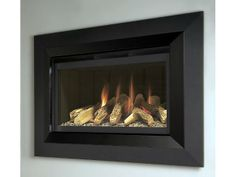Proclaim, High Efficiency, Gas Fire, Black Fascia, Log Fuel Bed