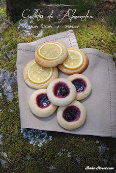 La cesta de Caperucita Roja: Galletas de almendra con limón o moras