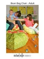 Pyramid Bean Bag Chair Fabric Depot SewHome Free Sewing - Adult bean bag pattern free