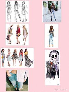 Collage voor de opdracht van bv: wonen in je kleren 2V1