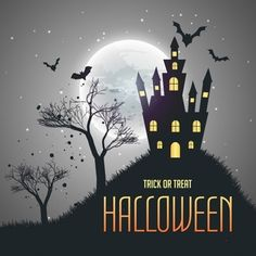 Fondo para halloween con una casa encantada