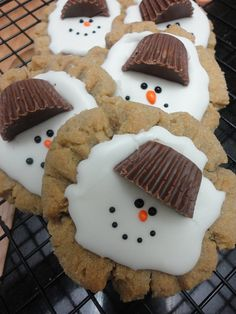 Christmas Cookies Melting snowman Chocolate by CookieConstructor