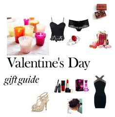"""""""Romantic Valentines Night : Contest Entry"""" by jelly12-861 ❤ liked on Polyvore featuring Agent Provocateur, Pottery Barn, Oscar de la Renta, Guerlain, La Maison Du Chocolat and contest"""