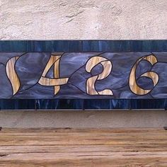 Stained Glass Window Panel / Transom With Bold House Number by