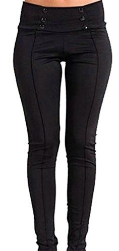 02667f56b264 Cruiize Womens Casual Stretch Color Block Straight Leg Long Pencil Pant