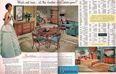 Mad for Mid-Century: Vintage Broyhill Premier Furniture Brochure