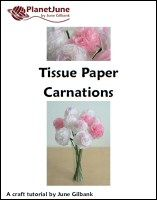 tissue paper carnations tutorial  try using pinking sheers to cut them out