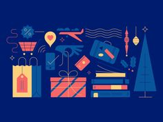 12 Days of Christmas Sale designed by Jacob Rhoades for Lonely Planet. Connect with them on Dribbble; the global community for designers and creative professionals. 12 Days Of Christmas, Christmas Sale, Lonely Planet, Flat Illustration, Christmas Design, Line Design, Illustrations Posters, Planets, Presents