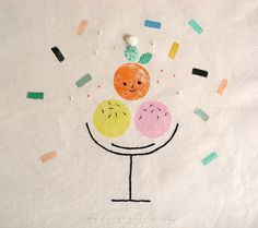 misako mimoko stamped art - adorable!