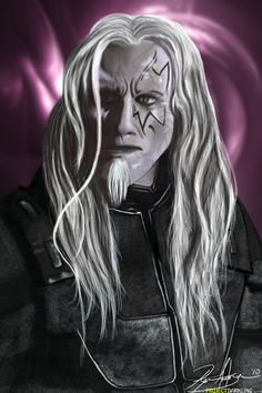 Todd the Wraith (from Stargate Atlantis) Done for my friend, who is a big fan of the show. Forgive me if I did anything wrong to him, I have never watch. Todd the Wraith Sci Fi Shows, Tv Shows, Christopher Heyerdahl, Stargate Universe, Classic Sci Fi, Stargate Atlantis, Dark Elf, Character Portraits, Illustrations And Posters