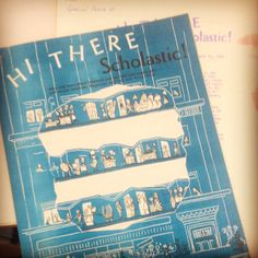 Hi There Scholastic! A news magazine circa 1959 = perfect #throwbackthursday find! #tbt
