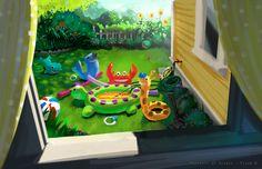 Pixar Post - For The Latest Pixar News: PartySaurus Rex Concept Art