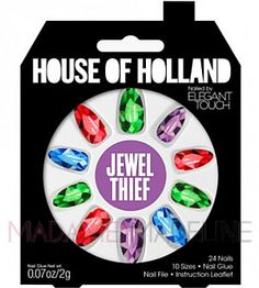 House Of Holland Nails By Elegant Touch - JEWEL THIEF #hoh #madamemadeline #nail