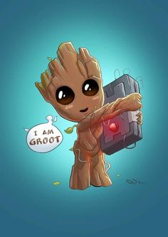 Imagem de groot, Marvel, and guardians of the galaxy