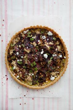 Shiitake and purple potato tart from  Cannelle et Vanille by Aran Goyoaga