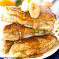 Best Ever Peanut Butter Banana French Toast Recipe - RecipeChart.com