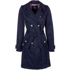 McGregor Trenchcoat (€230) ❤ liked on Polyvore featuring outerwear, coats, jackets, blue, coats & jackets, tops, women's outerwear, trench coat, blue coat and blue trench coat