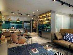 Inspiração ♡ #interiores #design #interiordesign #decor #decoração #decorlovers #archilovers #inspiration #ideias #integrado #sala #living #saladeestar #livingroom #saladetv #hometheater #cozinha #kitchen