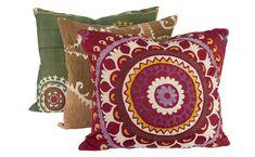 vintage suzani pillows