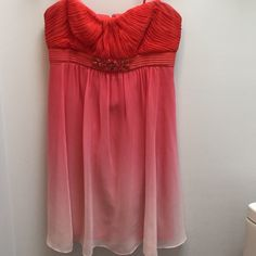 """Dressy Dress Here is the deal with this adorable dress. It has some marks that are in the pictures. I don't know what the marks are or much else about this dress. I can't find a brand on it either. 100% silk  and lining is 100% polyester. The length is 26""""  the top across is 15"""" the waist is 13"""" and the bottom is 26""""  this is a dress for crafty poshers who can fix a few things and make this a beauty again Dresses"""