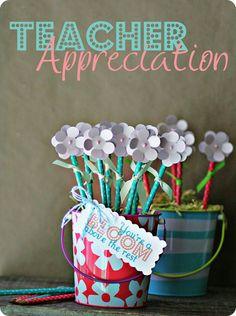 flower pot ideas for teachers
