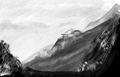 Figuración paisaje - blanco y negro