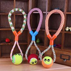 Rope And Ball Durable Dog Toy - Big Star Trading - 1