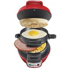 Breakfast Sandwich Maker Cooking Egg Muffin Ham Bacon Sausage Easy Food Recipes