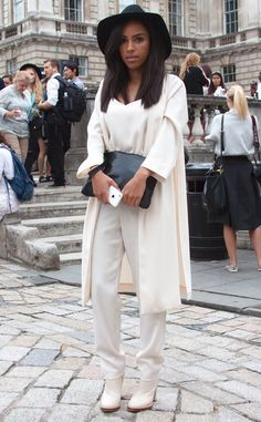 Aime Tagan from Street Style: London Fashion Week Spring 2015 | E! Online