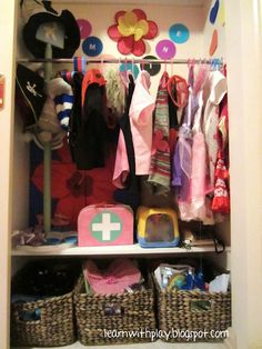 Learn with Play @ home: DIY Dress-up Storage Solution