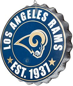 NFL Los Angeles Rams 2016 Bottle Cap Wall Sign One Size *** Click image to review more details.