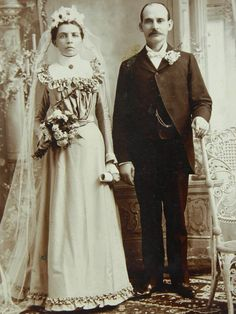 1800s Cabinet Card Wedding Photograph by QueeniesCollectibles, $16.99