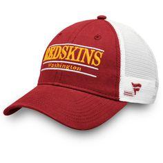 Men s Washington Redskins NFL Pro Line by Fanatics Branded Burgundy White  Primary Bar Trucker Adjustable 4f98cc05b51a