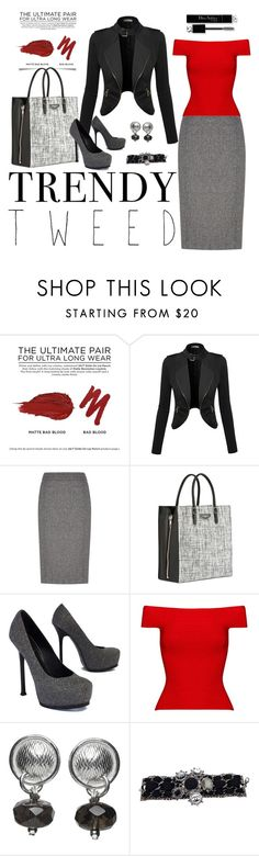 """Trendy Tweed"" by amandamarchant ❤ liked on Polyvore featuring Urban Decay, Austin Reed, Balenciaga, Yves Saint Laurent, Posh Girl, Kuka-me, Christian Dior, women's clothing, women and female"