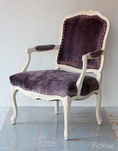 BEFORE & AFTER! Louis XV Rococo Chair, using CeCe Caldwell chalk paint!
