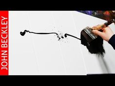 Abstract Art Painting Demonstration with Acrylics | Arrows - YouTube
