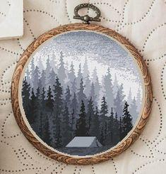 Cross Stitch Pattern Twilight Forest Nordic Cross Stitch