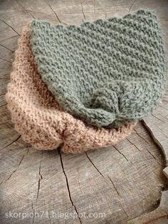 ✰ Skorpionen's hjørne: Hue med vri ~ til liten og til stor ♡ Crochet Clothes, Hue, Knitting Patterns, Beige, Shawl, Threading, Creative, Knit Patterns, Knitting Stitch Patterns