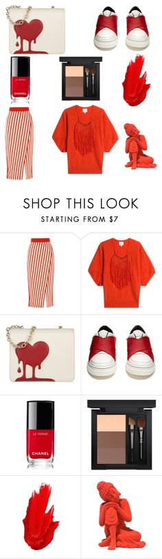"""Beauty in  Red"" by shingai on Polyvore featuring Claudia Schiffer, Love Moschino, Proenza Schouler, Chanel, MAC Cosmetics and Maybelline"