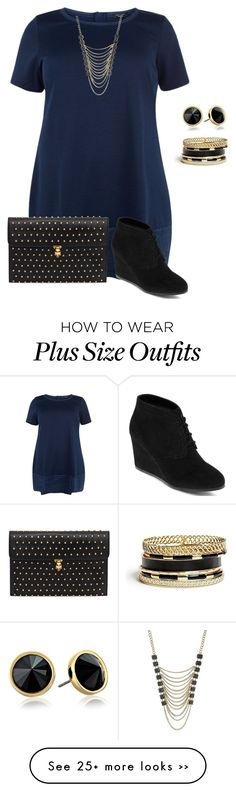 """plus size/simple and cute fall datenight look"" by kristie-payne on Polyvore featuring Lane Bryant, Alexander McQueen, Trina Turk LA, GUESS and Arizona"