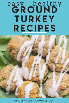 These are the Best Ground Turkey Recipes! No matter what diet you follow (whole30, paleo, keto) these healthy turkey recipes are great are easy to make and perfect for dinner! Ground turkey burgers, ground turkey meatloaf and ground turkey meatballs - there's something for everyone! Best Ground Turkey Recipes, Healthy Turkey Recipes, Healthy Ground Turkey, Turkey Burger Recipes, Paleo Recipes, Lunch Recipes, Free Recipes, Chicken Recipes, Turkey Meals