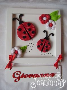 think these ladybugs (make out of fabric) would be cute sewn on t shirt or skirt, maybe tiny ones on socks