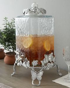 Arthur Court  Butterfly Beverage Server