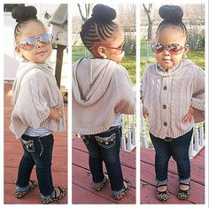 This little girl is more stylish and has more attitude than I'll ever have in my life.