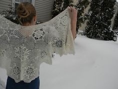 Ravelry: avakate's Snowflake Shawl for a Winter Bride