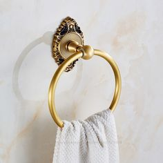 53.50$  Buy now - http://alilbw.shopchina.info/go.php?t=32680895452 - Free Shipping Luxury Brass Bathroom Towel Ring Holder towel bar rack bathroom accessories 34G2301 53.50$ #magazineonline