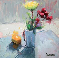 cathleen rehfeld • Daily Painting: Class Demo Flowers