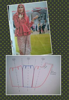 Rok span Skirt Patterns Sewing, Blouse Patterns, Clothing Patterns, Gown Pattern, Pants Pattern, Fashion Sewing, Diy Fashion, Model Rok, Pola Rok