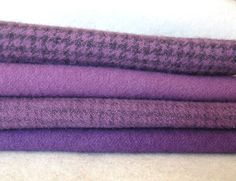 Hand Dyed and Felted Wool Fabric Perfect for Rug by quiltingacres, $15.50